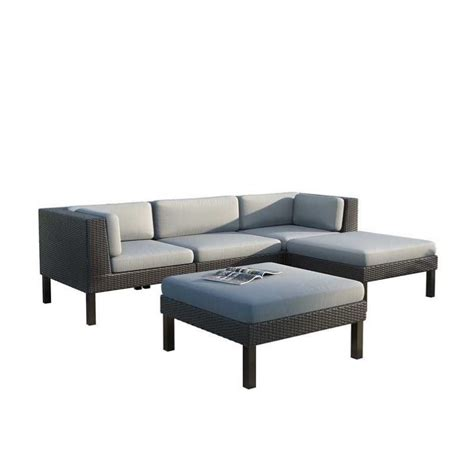couch and chaise lounge set 5 pc sofa with chaise lounge patio set ppo 804 z