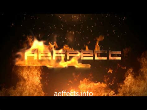 free after effects templates no plugins flaming text free after effects template no plugins