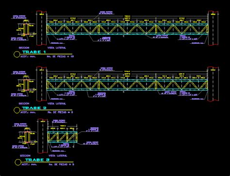 metallic structures dwg detail  autocad designs cad