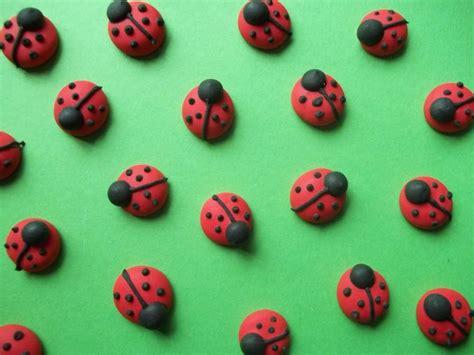 Handmade Cake Decorations - royal icing ladybugs handmade cupcake toppers cake