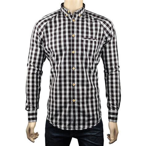 Ben Sherman Ls Shirt Size M New With Tag new ben sherman soho slim fit mens check shirt white black size s m xl ebay
