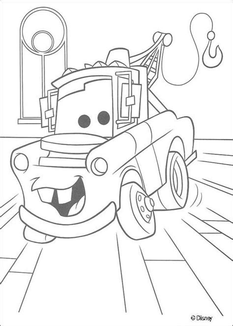 Coloring Pictures Of Mater From Cars | mater chevrolet truck coloring pages hellokids com