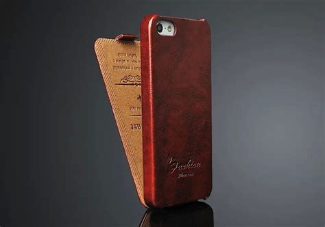 oil wax genuine leather vertical flip cover case  apple