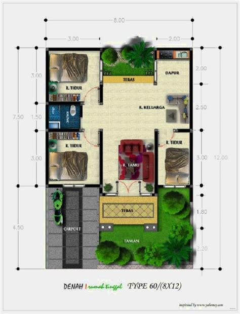 desain gambar denah rumah desain gambar denah rumah minimalis type 60 terbaru