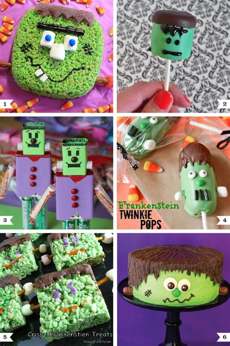 halloween themed desserts frankenstein themed halloween treats chickabug