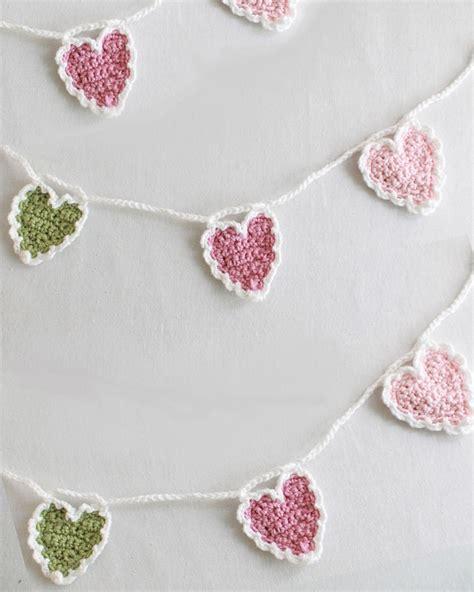 heart garland pattern free heart garland pattern crochet pinterest