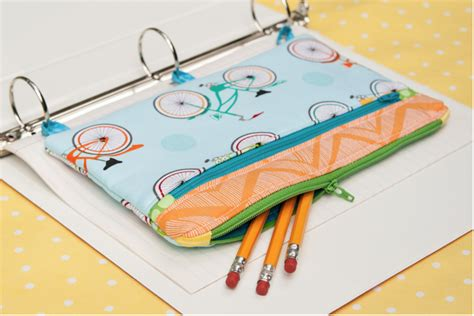 pattern sewing pencil case three ring binder pencil case sewing tutorial the