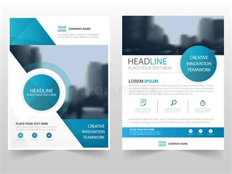 Circle Brochure Template by Blue Circle Technology Business Brochure Leaflet Flyer