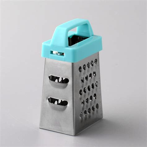 Promo 4 Way Grater Stainless Steel Parutan 4 Sisi Mutu Gts 48 high quality mini 4 sides multifunction stainless steel handheld grater slicer vegetable kitchen