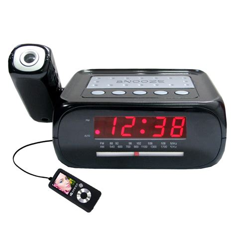 supersonic projector projection alarm clock radio w aux input sc 371 new 639131003712 ebay