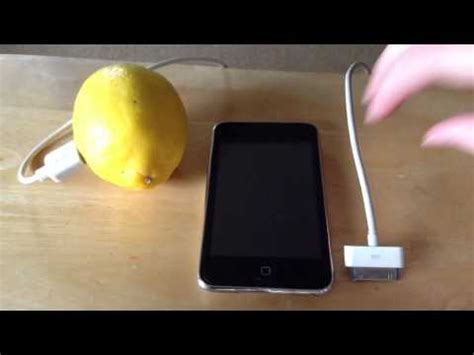 charge your phone how to quot charge quot your ipod with a lemon youtube