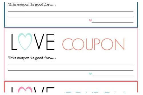 love coupon template word