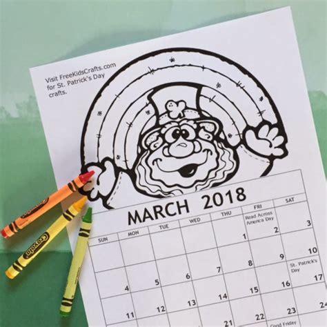 march coloring pages crayola 2018 printable march coloring calendar