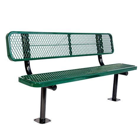 green park bench surface mount 6 ft green diamond commercial park bench