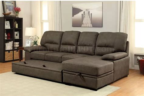 brown fabric sectional sofa alcester sectional sofa cm6908br in brown faux nubuck fabric