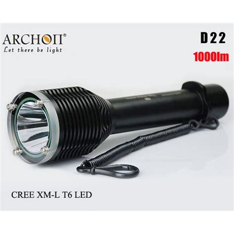Taffware Senter Led Cree Xm L T6 U2 3800 Lumens buy archon d22 cree xm l t6 1000lm 100m diving led flashlight bazaargadgets