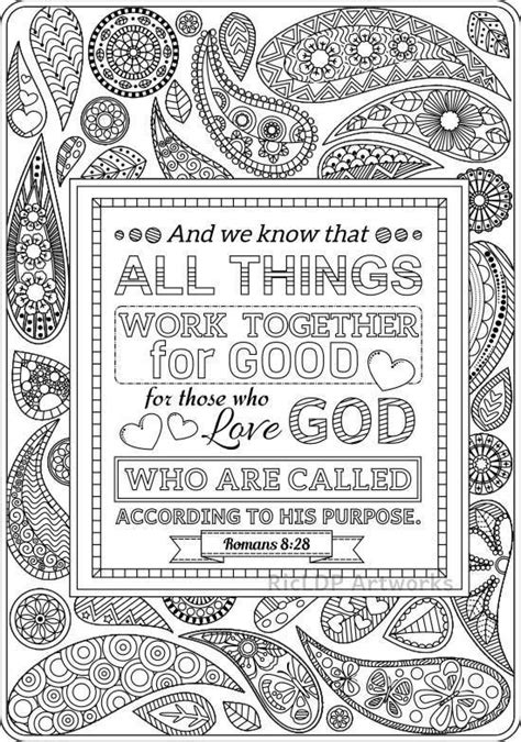 Romans 8 Coloring Page by Two Bible Coloring Pages Romans 8 28 And Romans 2 12