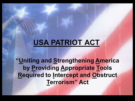 usa patriot act section 215 usa patriot act usa patriot act ppt video online download