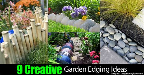 garden border ideas 9 creative garden edging ideas