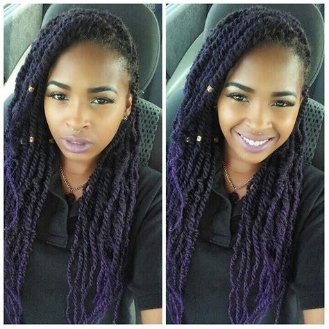 weave style bob marley purple marley twists hair love it leave it change it