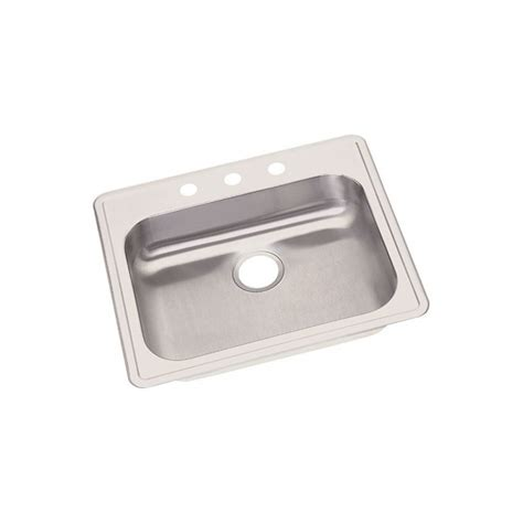 dayton stainless steel sinks elkay ge12522 dayton stainless steel single bowl top mount