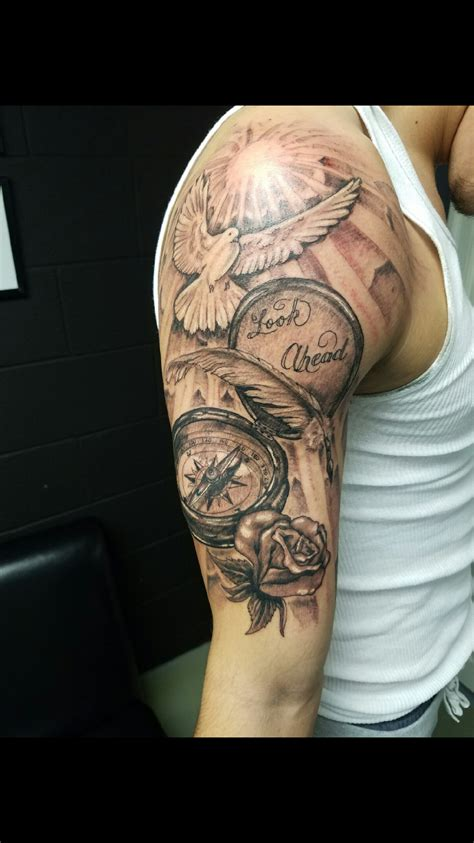 mens tattoos arm s half sleeve tats