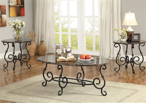 piece occasional table sets  piece accent table set