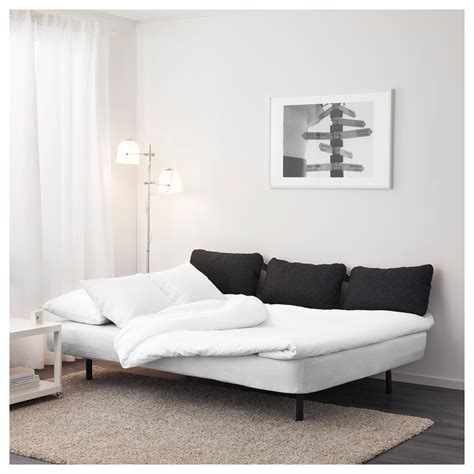 triple sofa bed nyhamn sofa bed with triple cushion with foam mattress