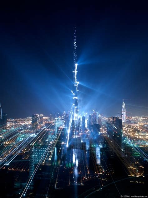 Famous Lighting Designers inauguration video amp pictures of world s tallest building