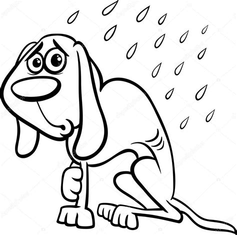 homeless person coloring page homeless dog cartoon coloring page stock vector