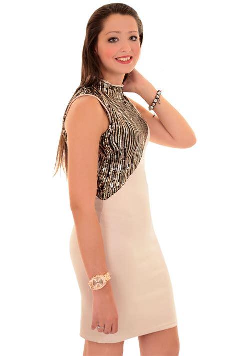 Slim Fit Bodycon Dress high turtle neck sequin evening slim fit mini