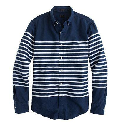 Stripe Shirt Kemeja Salur j crew slim vintage oxford in horizontal stripe woven shirts vintage stripes