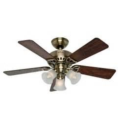 antique brass ceiling fan shop the beacon hill 42 in antique brass downrod or