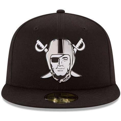 new era raiders new era 59fifty chrome fitted pirate cap