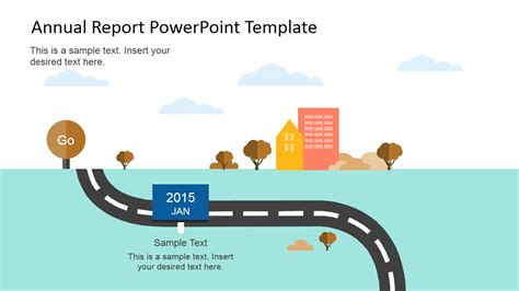 Flat Annual Report Powerpoint Template Slidemodel Report Powerpoint Template