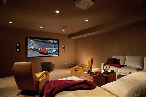 Small Home Theatre In Basement We On Television Wrong Centives