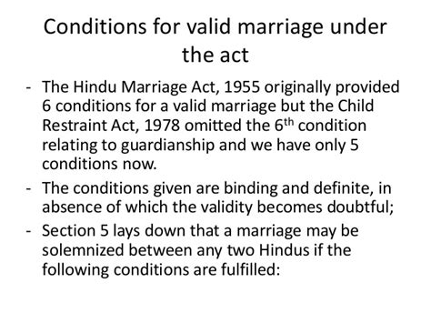 section 5 of hindu marriage act marriage uner hindu law
