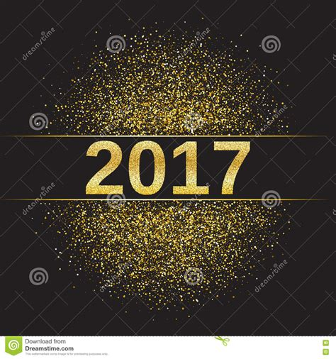 new year 2017 toto gold glitter happy new year 2017 stock vector