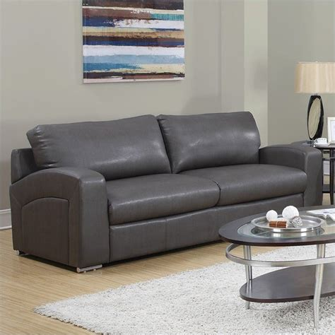 charcoal grey loveseat sofa in charcoal gray i8503gy