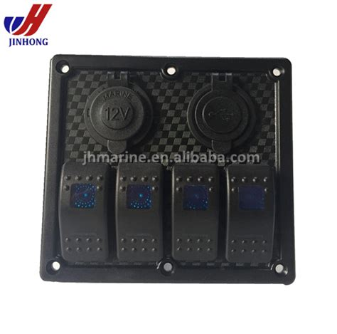 marine switch panel with usb waterproof 12v rocker switch panel marine motorhome with