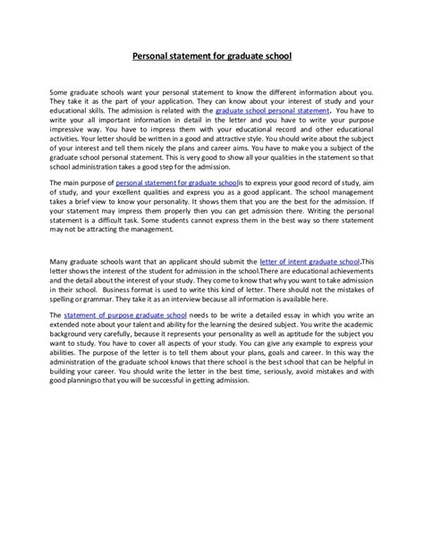 personal statement for school personal statement for graduate school 37