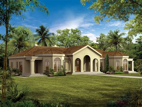 one story dream homes one story mediterranean mediterranean rendering