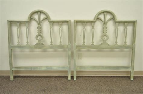wooden headboards for single beds pair of prince of wales plume feather carved wood single