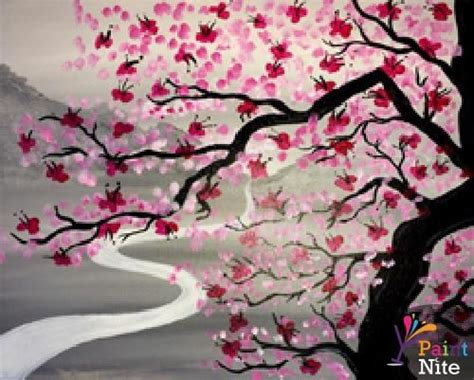 paint nite japanese cherry blossoms 1000 images about paintings on swim toronto