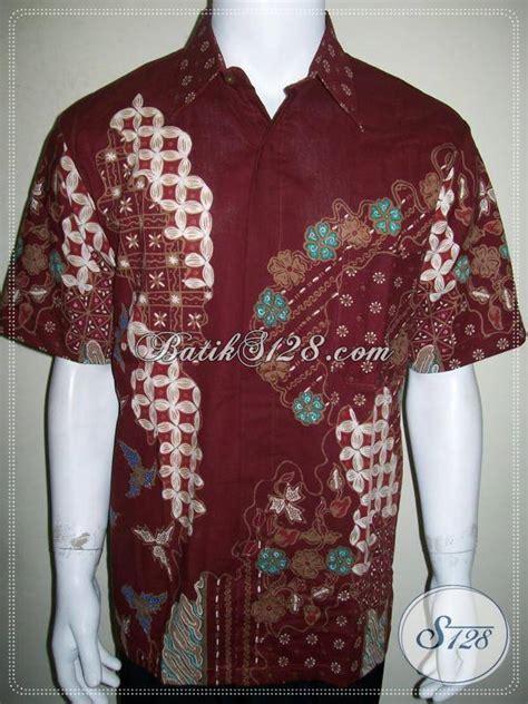 Baju Banduan Warna Merah jual baju batik warna merah untuk pergi kerja kantor dan kondangan ld847t l toko batik