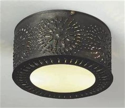 punched tin ceiling lights from lighting by hammerworks