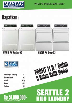Paket Usaha Kilo Laundry Maytag Dallas paket seattle 2 kilo laundry laundry mart indonesia