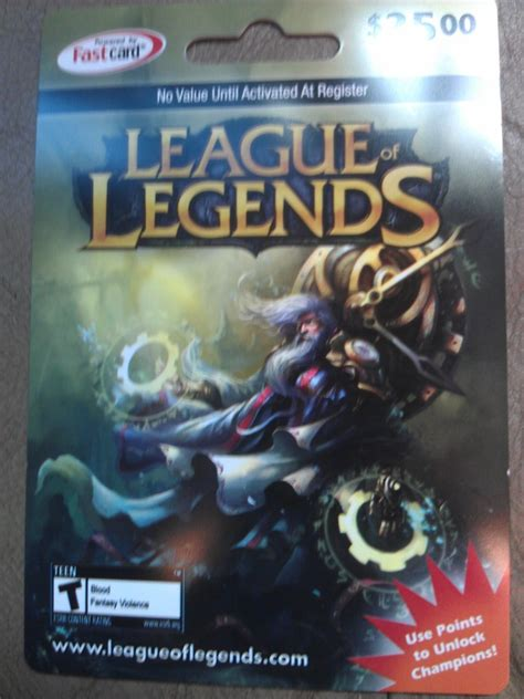 League Of Legends Gift Cards - 25 dollar league of legends gift card arbitrary day 2012 redditgifts