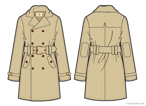 coat template vf205 trench coat vector template other files