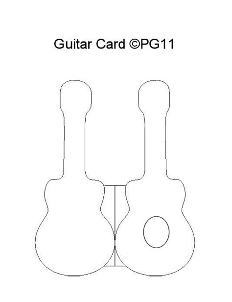 Guitar Card Template I Made Templates Pinterest Gitaar Kaart Sjablonen En Sjablonen Card Craft Templates